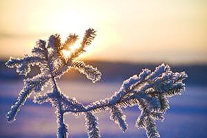 Umziehen im Schnee